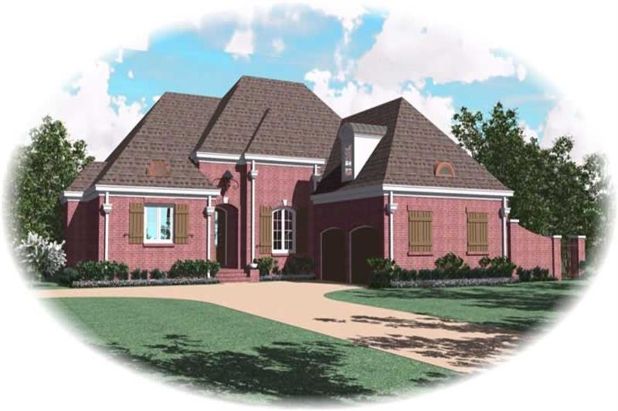 3-Bedroom, 3335 Sq Ft Country Home Plan - 170-1943 - Main Exterior
