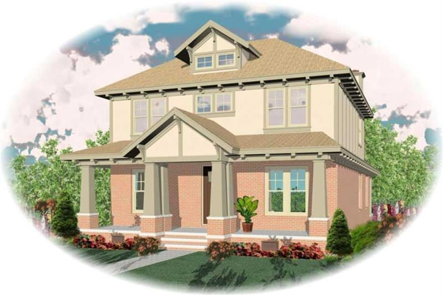 3-Bedroom, 2708 Sq Ft Craftsman Home Plan - 170-1948 - Main Exterior