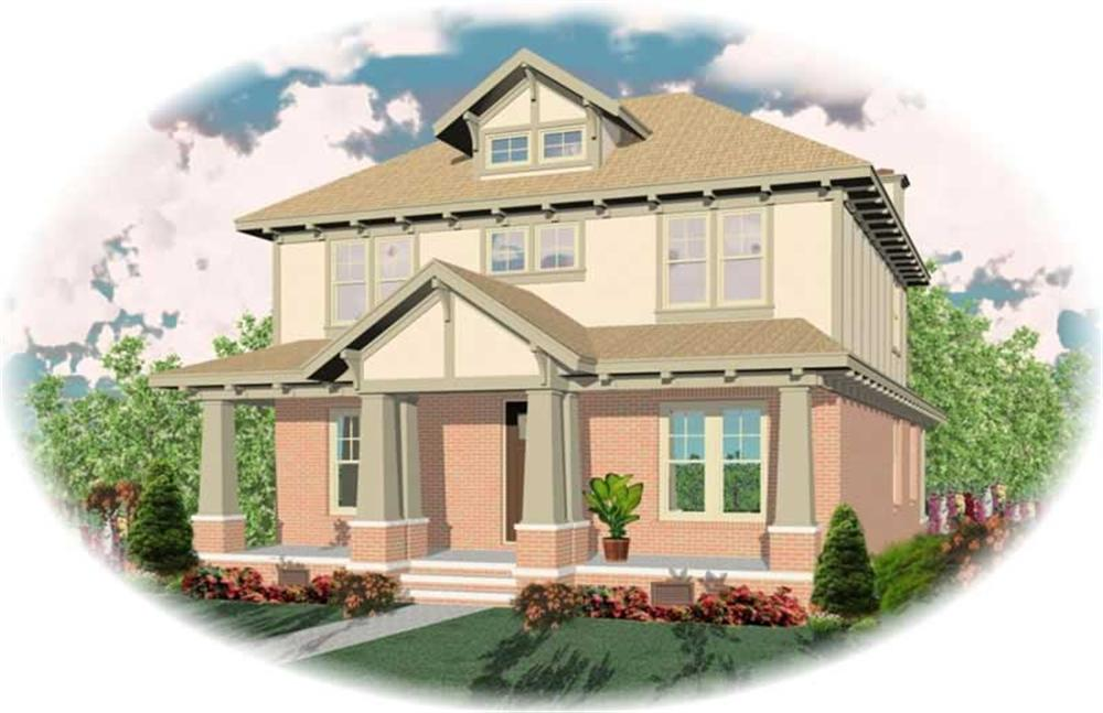Craftsman home (ThePlanCollection: Plan #170-1949)