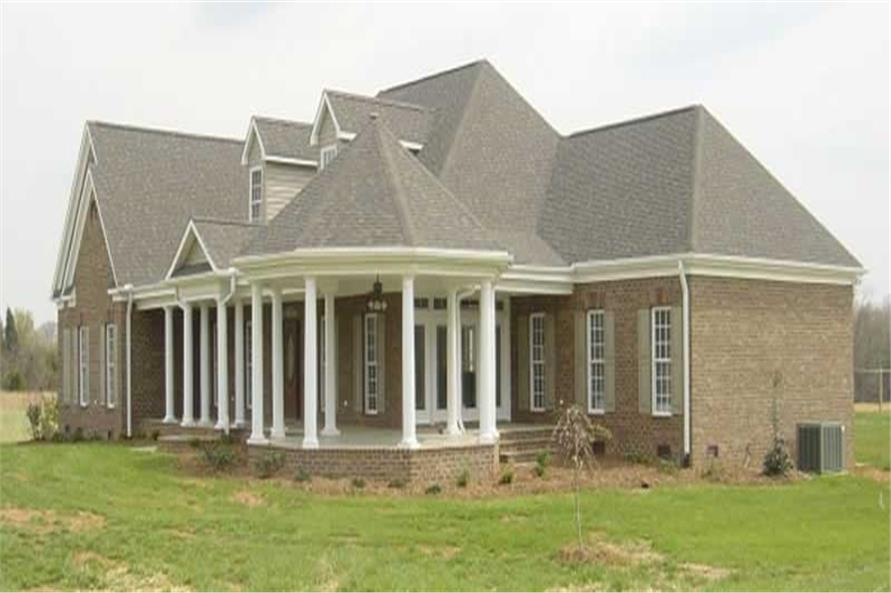 HOME PLAN RIGHT ELEVATION