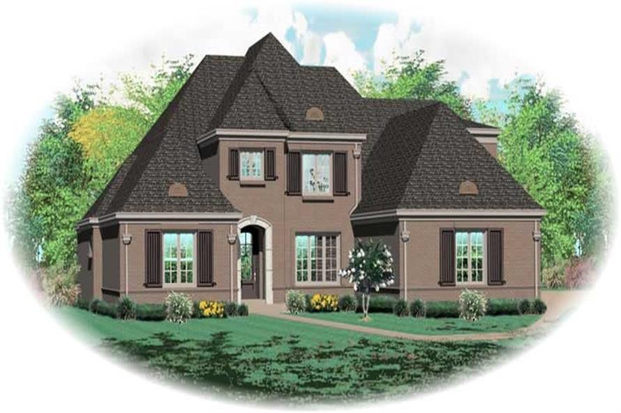 5-Bedroom, 4391 Sq Ft French House Plan - 170-1954 - Front Exterior