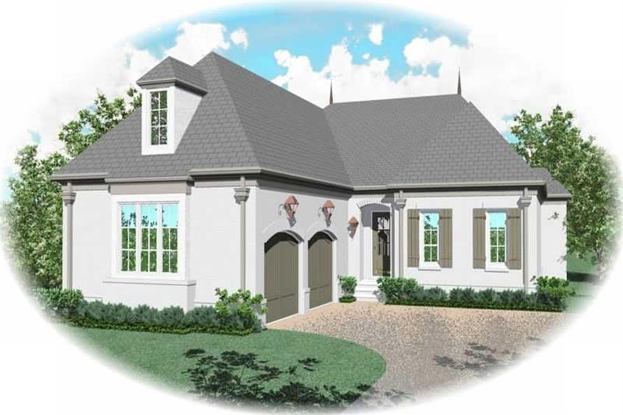 3-Bedroom, 2830 Sq Ft French House Plan - 170-1958 - Front Exterior