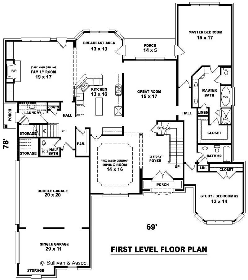Luxury french house plans home design su b2800 1594 888 for 1960 s floor plans