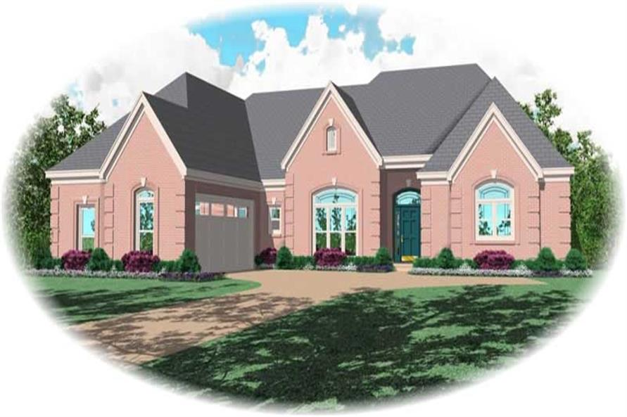 3-Bedroom, 3271 Sq Ft Country House Plan - 170-1961 - Front Exterior