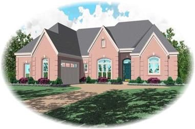3-Bedroom, 2832 Sq Ft Country House Plan - 170-1962 - Front Exterior