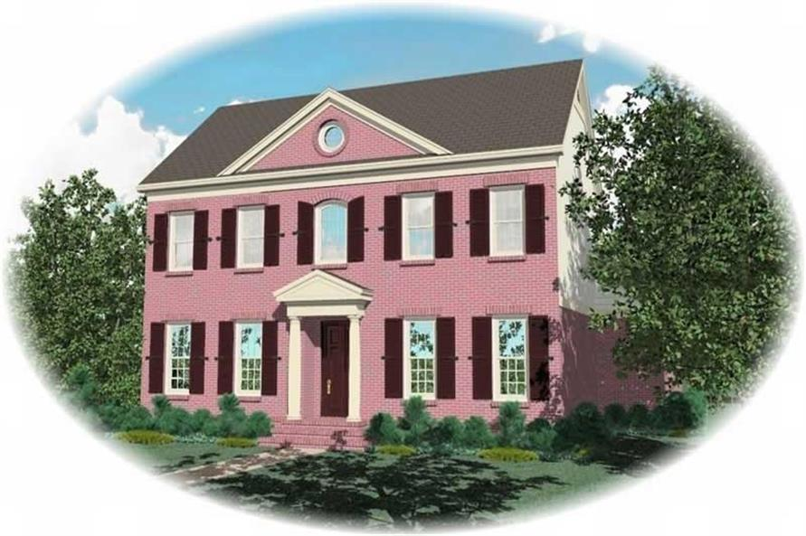 4-Bedroom, 3643 Sq Ft Luxury House Plan - 170-1965 - Front Exterior