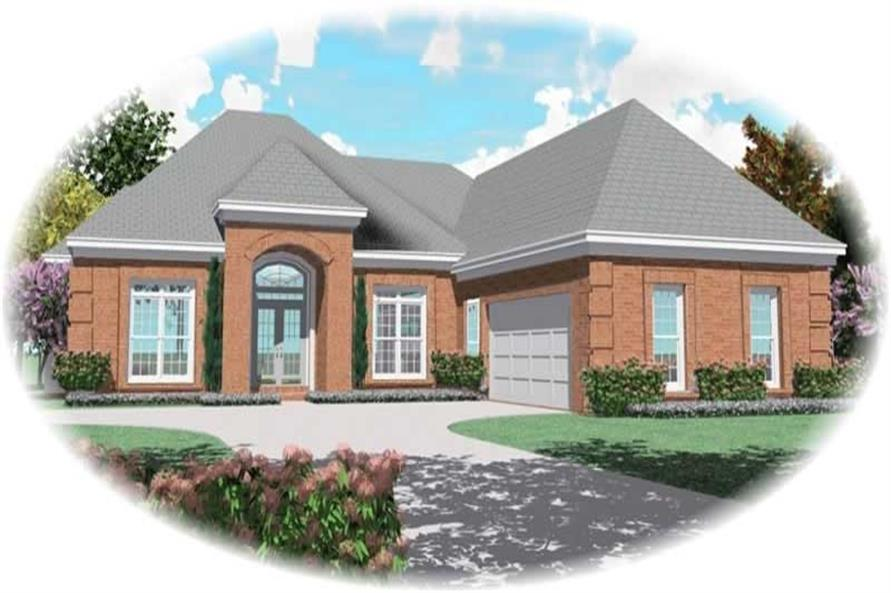 3-Bedroom, 2530 Sq Ft French House Plan - 170-1969 - Front Exterior