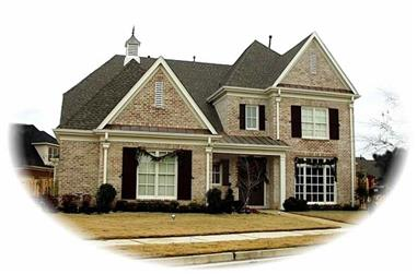 4-Bedroom, 3922 Sq Ft Luxury House Plan - 170-1974 - Front Exterior