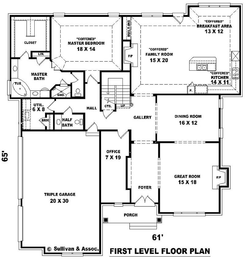 4 bedroom floor plans 2 story 653964 two story 4 bedroom 3 bath french country style bathrooms - Two floor house plans collection ...