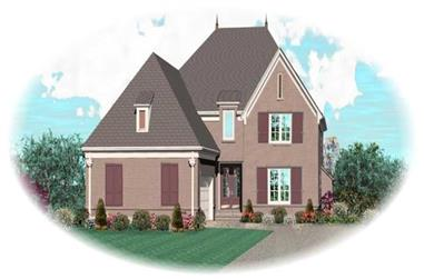 4-Bedroom, 3782 Sq Ft French House Plan - 170-1976 - Front Exterior