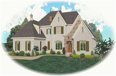 4-Bedroom, 4871 Sq Ft Country Home Plan - 170-1986 - Main Exterior