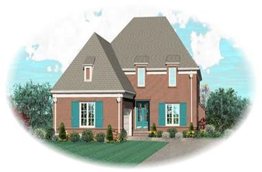 4-Bedroom, 3791 Sq Ft French House Plan - 170-1987 - Front Exterior