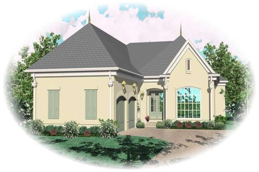 3-Bedroom, 3003 Sq Ft French Home Plan - 170-1989 - Main Exterior