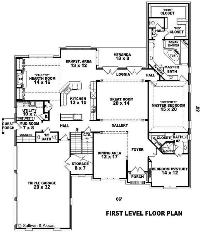 French house plans home design su b2931 1882 1439 fc1 11053 story home floor plan cheapraybanclubmaster Image collections
