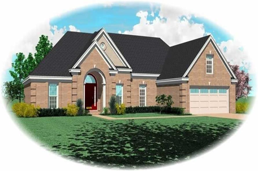 3-Bedroom, 1885 Sq Ft French House Plan - 170-1994 - Front Exterior