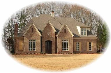 4-Bedroom, 2757 Sq Ft French House Plan - 170-1995 - Front Exterior