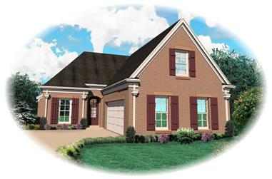 3-Bedroom, 2367 Sq Ft Country House Plan - 170-2001 - Front Exterior