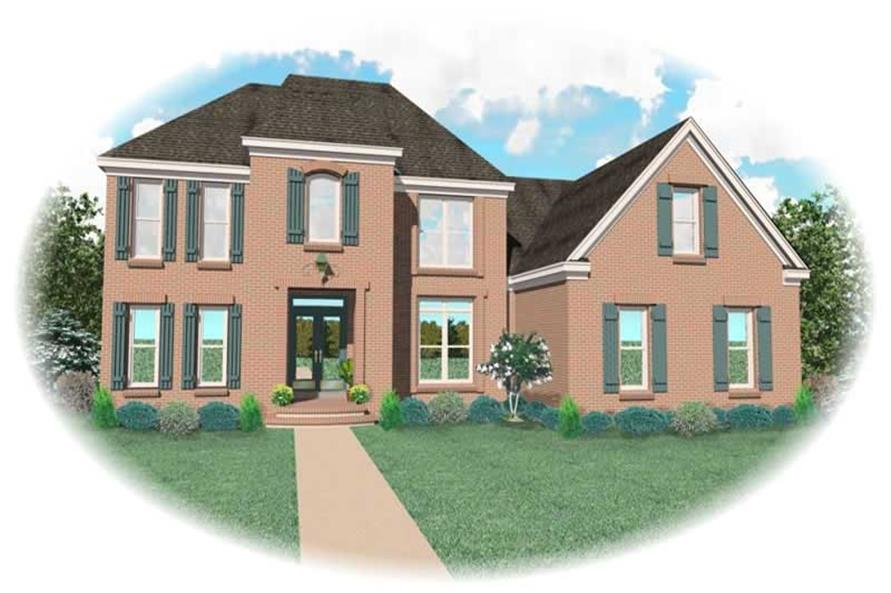 4-Bedroom, 2591 Sq Ft French Home Plan - 170-2003 - Main Exterior