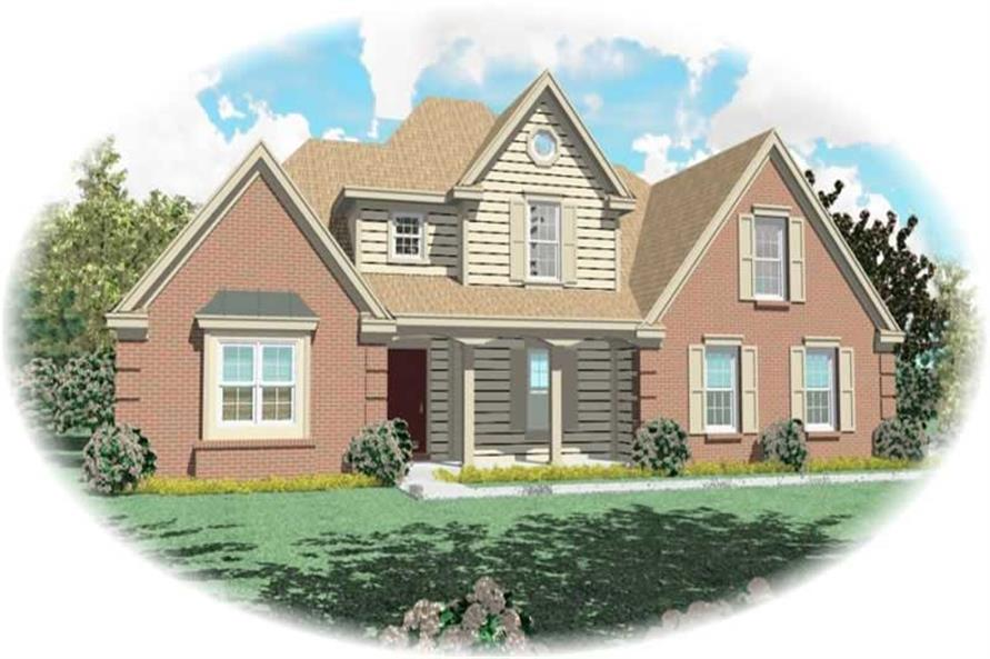 3-Bedroom, 2665 Sq Ft French Home Plan - 170-2015 - Main Exterior