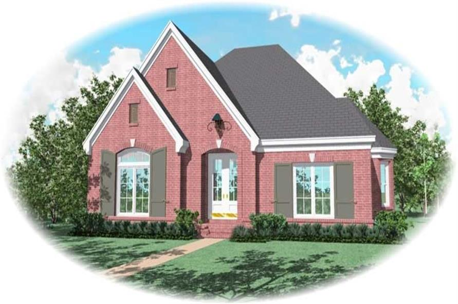 4-Bedroom, 3262 Sq Ft French Home Plan - 170-2024 - Main Exterior