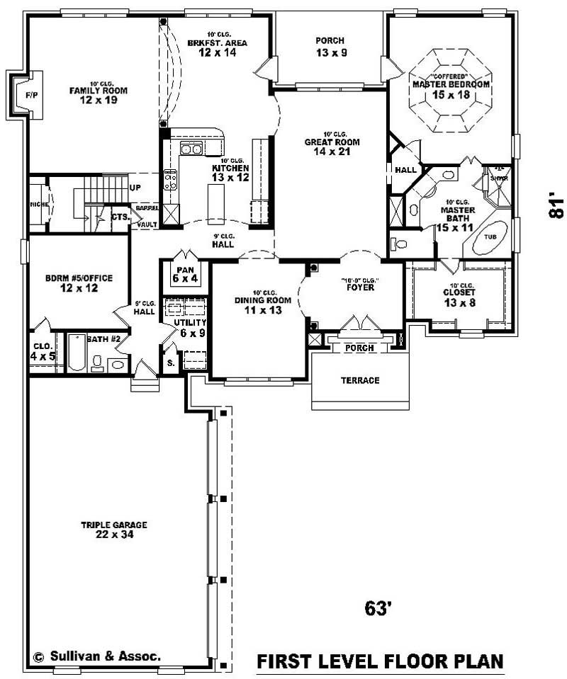 French Country House Plans Home Design Su B2500 1350