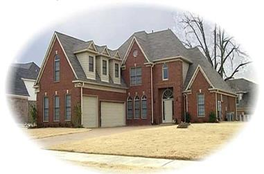 3-Bedroom, 3981 Sq Ft French House Plan - 170-2032 - Front Exterior
