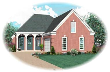 3-Bedroom, 2327 Sq Ft Traditional House Plan - 170-2034 - Front Exterior