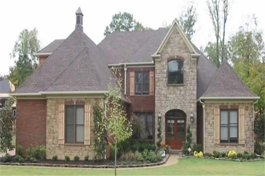 4-Bedroom, 4299 Sq Ft French House Plan - 170-2036 - Front Exterior