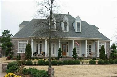 3-Bedroom, 4228 Sq Ft Country House Plan - 170-2038 - Front Exterior