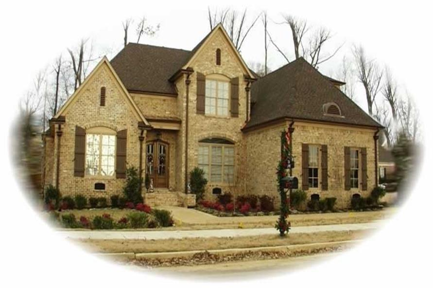 4-Bedroom, 4018 Sq Ft French House Plan - 170-2040 - Front Exterior