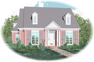 3-Bedroom, 2788 Sq Ft French House Plan - 170-2041 - Front Exterior