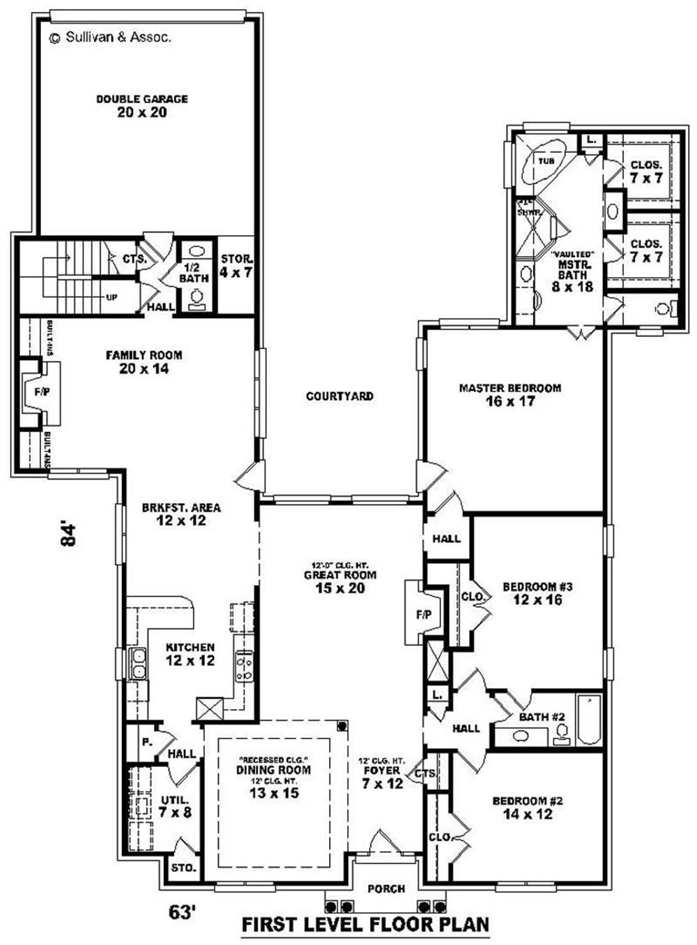 Large Images For House Plan 170 2041