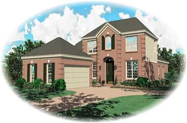 3-Bedroom, 2725 Sq Ft French House Plan - 170-2042 - Front Exterior