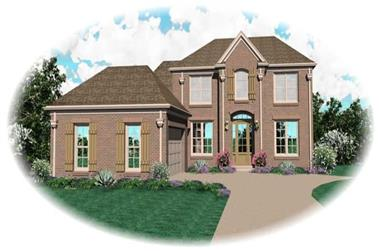 3-Bedroom, 2725 Sq Ft Country House Plan - 170-2043 - Front Exterior