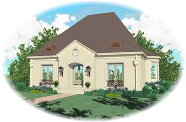 4-Bedroom, 3925 Sq Ft French House Plan - 170-2044 - Front Exterior