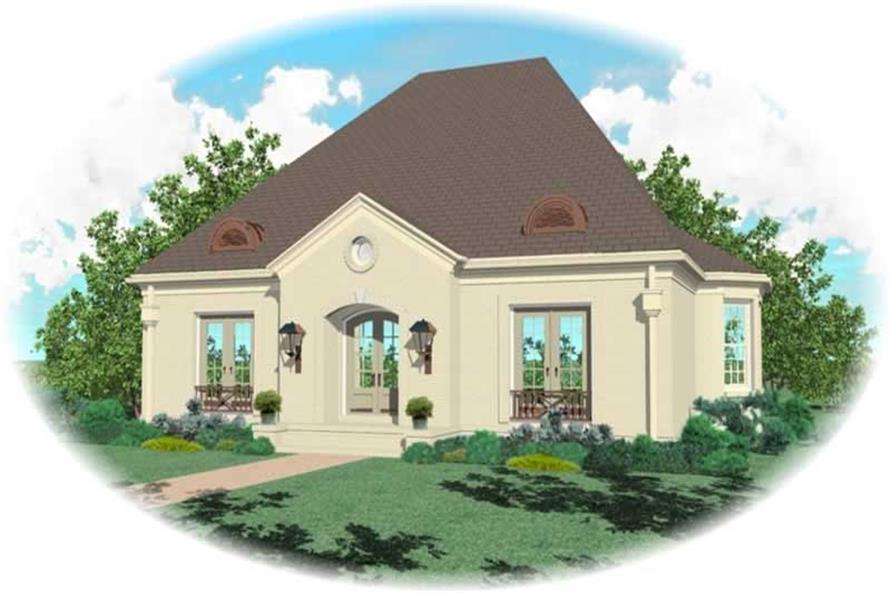 4-Bedroom, 3237 Sq Ft French Home Plan - 170-2051 - Main Exterior