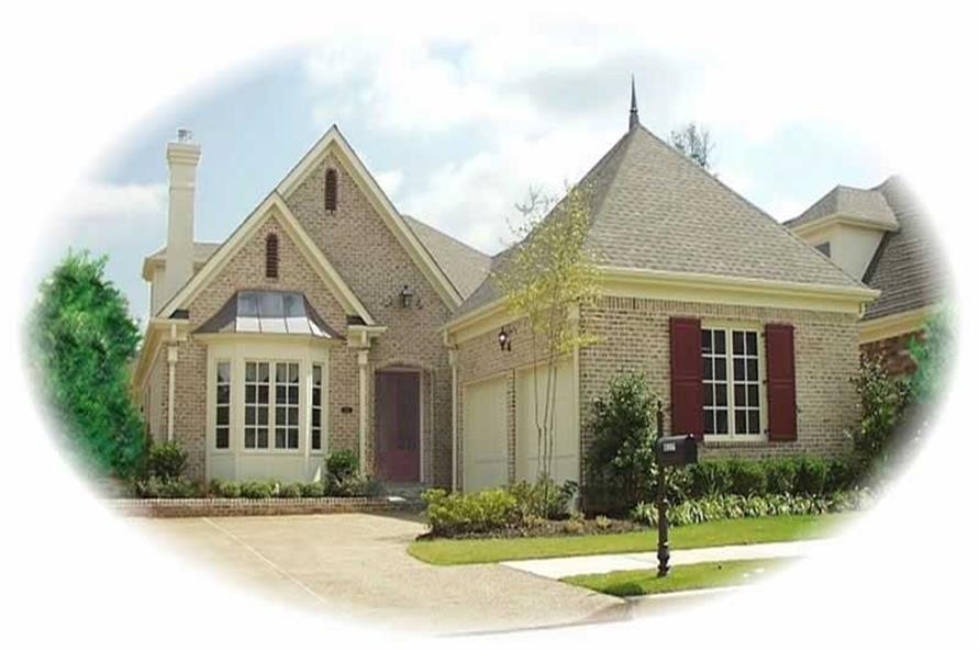 3-Bedroom, 3207 Sq Ft French House Plan - 170-2052 - Front Exterior