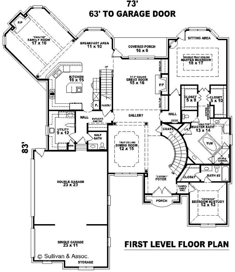 Luxury french house plans home design su b2900 1935 for Floor plan in french