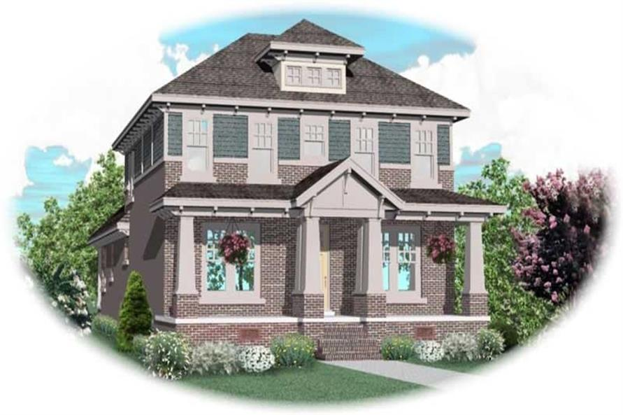 3-Bedroom, 3448 Sq Ft Craftsman Home Plan - 170-2058 - Main Exterior