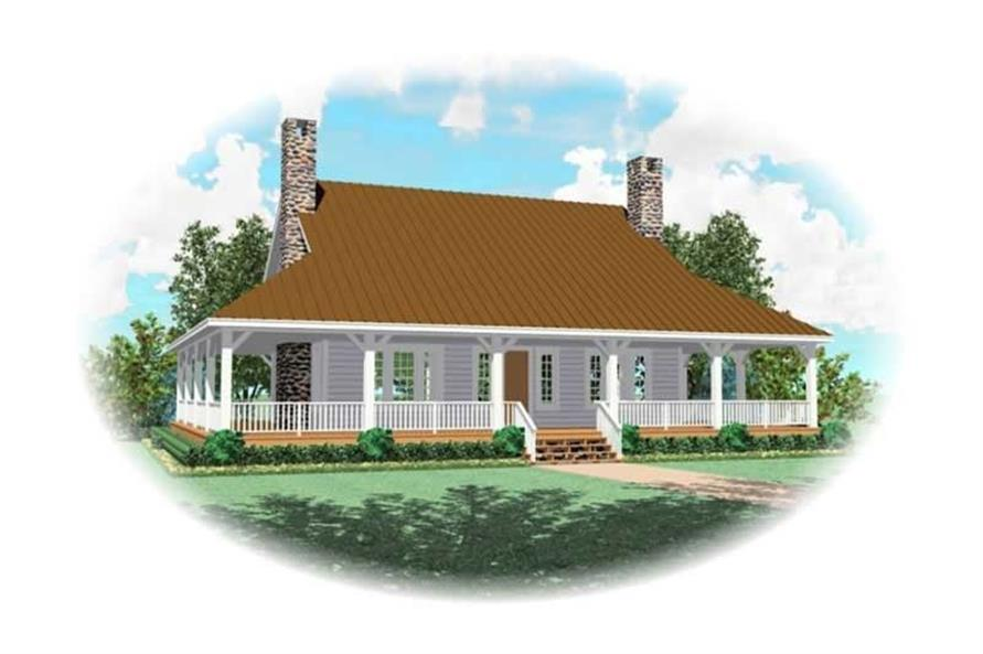 3-Bedroom, 2435 Sq Ft Country Home Plan - 170-2067 - Main Exterior