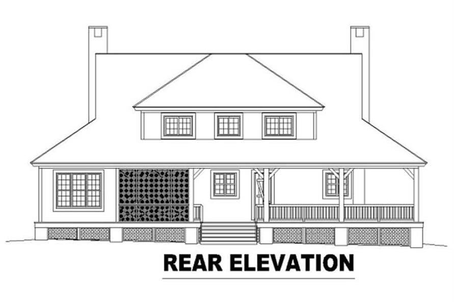 Home Plan Rear Elevation of this 3-Bedroom,2435 Sq Ft Plan -170-2067