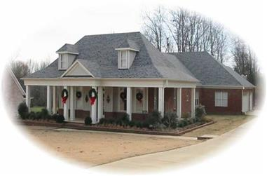 3-Bedroom, 2471 Sq Ft Country Home Plan - 170-2074 - Main Exterior