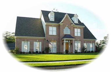 4-Bedroom, 3816 Sq Ft Luxury House Plan - 170-2076 - Front Exterior