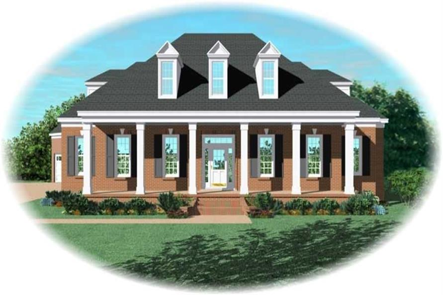 3-Bedroom, 3240 Sq Ft French Home Plan - 170-2080 - Main Exterior