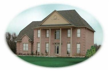 4-Bedroom, 3120 Sq Ft Colonial Home Plan - 170-2081 - Main Exterior