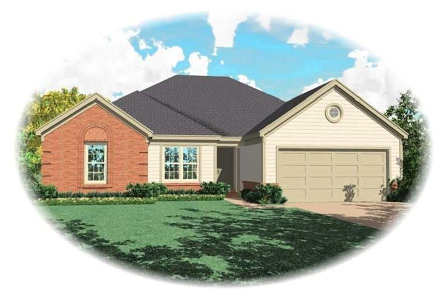 3-Bedroom, 1785 Sq Ft French Home Plan - 170-2082 - Main Exterior