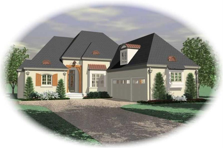 3-Bedroom, 3277 Sq Ft French House Plan - 170-2085 - Front Exterior