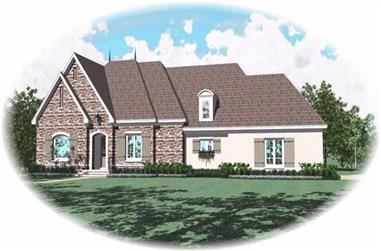 3-Bedroom, 3159 Sq Ft Country House Plan - 170-2086 - Front Exterior
