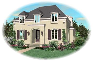 3-Bedroom, 3575 Sq Ft French House Plan - 170-2088 - Front Exterior