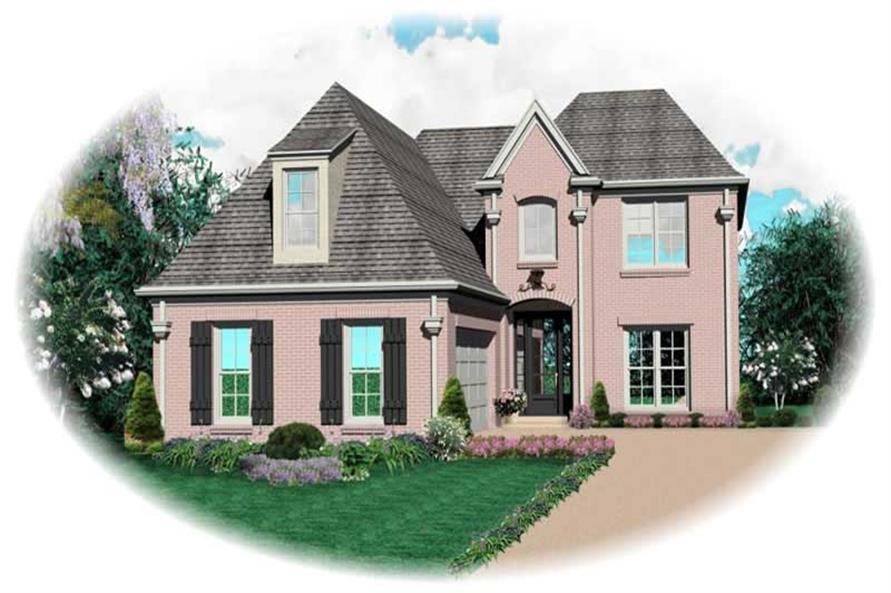 3-Bedroom, 2683 Sq Ft French Home Plan - 170-2097 - Main Exterior